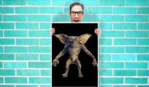 Gremlins film Art Pint - Wall Art Print Poster   - Purple Geekery
